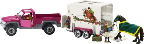 Schleich Horse Club 42346 Pick-up mit Pferdeanhänger