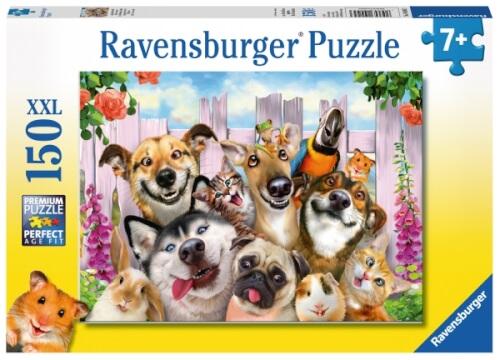 Ravensburger 100453 Puzzle Lustiges Tierselfie 150 Teile