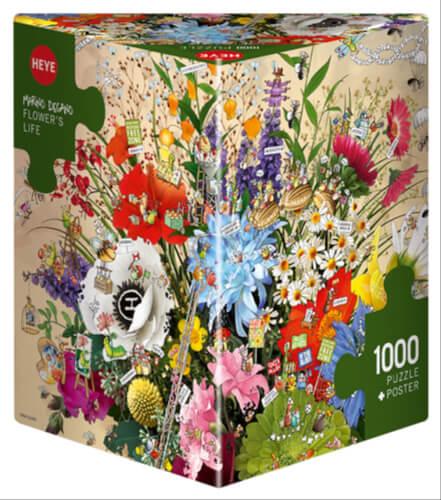 HEYE Puzzle Flower's Life Triangular 1000 Teile