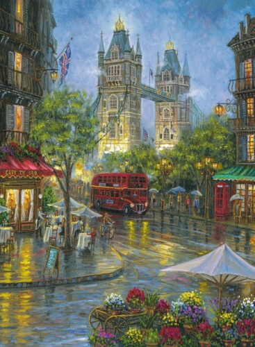 Ravensburger 14812 Puzzle: Malerisches London, 500 Teile