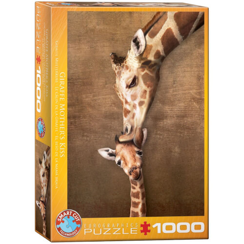 EuroGraphics Puzzle Giraffenmutterkuss 1000 Teile
