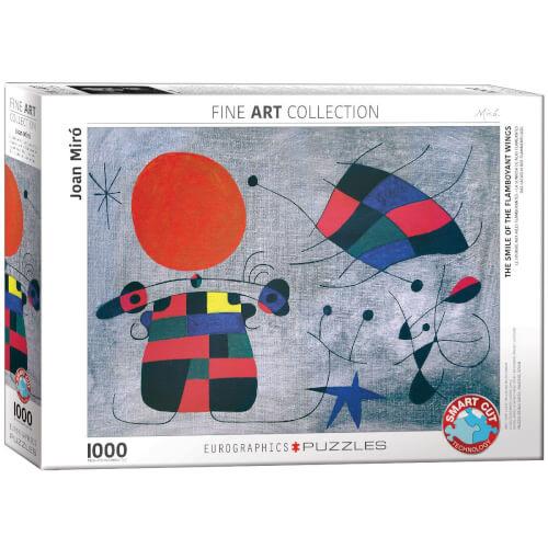 EuroGraphics Puzzle Das Lächeln der Flammenflügel von Joan Miró 1000 Teile