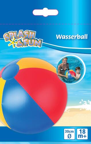 Splash & Fun Strandball uni, # ca. 30 cm