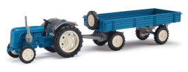 Traktor Famulus m.Anhäng.blau