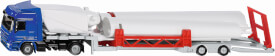 SIKU 3935 SUPER - LKW mit Windkraftanlage, 1:50, ab 3 Jahre
