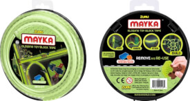 Mayka-Construction-Tape Medium 2m 2Stud Glow in the Dark