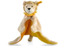 Steiff Schmusetuch Löwe ''Leon'', Plüsch, ca. 28 cm, beige-gelb-orange
