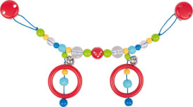 GoKi Kinderwagenkette rote Perle mit weißen Punkten