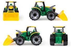 Starke Riesen Traktor m. Frontlader grün