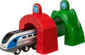 BRIO 63383400 Smart Tech Zug m.Actiontunnel
