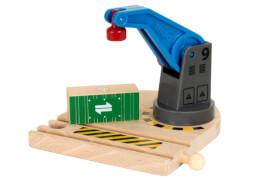 BRIO 63386600 Eisenbahn-Magnetkran, ab 3 Jahren, Holz und Kunststoff