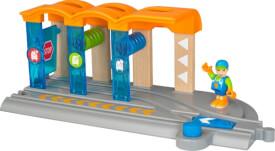 BRIO 63387400 Smart Tech Waschanlage für Züge, ab 3 Jahren, Holz und Kunststoff