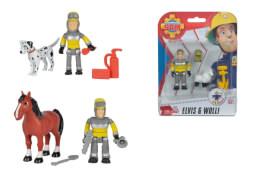 Simba Feuerwehrmann Sam - Figuren-Set ''Tierrettung'', Kunststoff, ca. 8 cm, ab 3 Jahre, sortiert