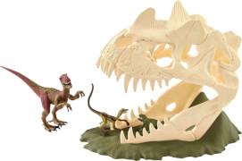 Schleich Dinosaurs - 42348 Große Schädelfalle mit Velociraptor, ab 5 Jahre