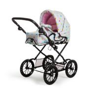 BRIO 63891359 Puppenwagen Combi, grau mit Punkten