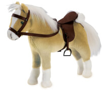 Götz 3401926 Pferd Haflinger mit Sattel, 42-50cm