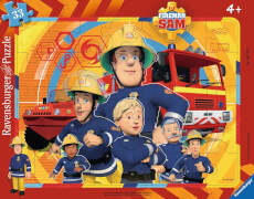 Ravensburger 06114 Rahmenpuzzle Sam, der Feuerwehrmann 33 Teile