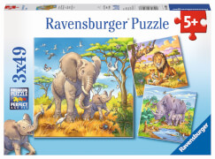 Ravensburger 08003 Puzzle: Wilde Giganten 3x49 Teile