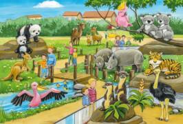 Schmidt Spiele Kinderpuzzle Ein Tag im Zoo, 3x24 Teile