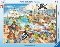 Ravensburger 06165 Puzzle: Angriff der Piraten, 36 Teile
