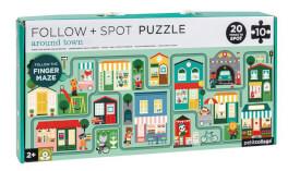 Petitcollage - Follow & Spot Puzzle Stadt 10 Teile