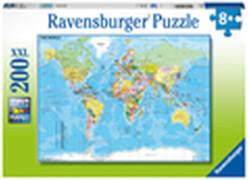 Ravensburger 12890 Puzzle Die Welt 200 Teile XXL
