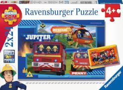 Ravensburger 07826 Puzzle Feuerwehrmann Sam Wasser marsch mit Sam 2 x 24 Teile
