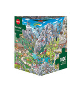 HEYE Dreieckspuzzle - Birgit Tanck - Alpine Fun - 1000 Teile