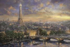 Schmidt Puzzle 59470 Thomas Kinkade, Paris, Stadt der Liebe, 1000 Teile, ab 12 Jahre