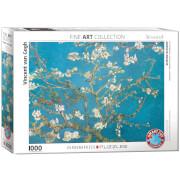 EuroGraphics Puzzle Blühende Mandelbaumzweige von Vincent van Gogh 1000 Teile