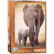 EuroGraphics Puzzle Elephant & Baby 1000 Teile