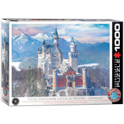 EuroGraphics Puzzle Schloss Neuschwanstein im Winter 1000 Teile
