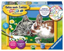 Ravensburger 27840 Malen nach Zahlen: Kätzchen und Häschen