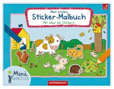 Mini-Künstler: Mein erstes Sticker-Malbuch, broschiert, 32 Seiten, ab 3 Jahren