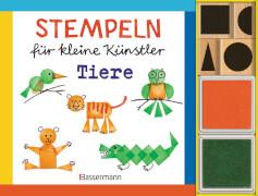 Stempeln für kleine Künstler - Tiere, Set, 48 Seiten, ab 5 Jahren
