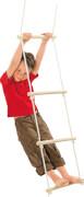 SpielMaus Outdoor Strickleiter Holz mit 5 Stangen, Länge ca. 190 cm, ab 3 Jahren