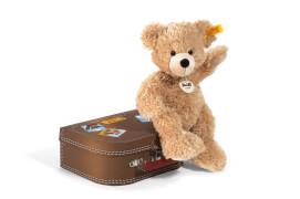 Steiff Plüschtier-Kofferset mit Teddybär, Plüsch, ca. 28 cm, beige